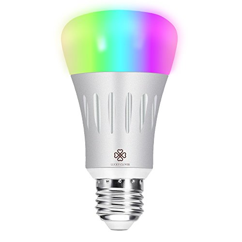 smart led light bulb lucky clover wifi light a19 bulbs 60w equivalent dimmable multicolored. Black Bedroom Furniture Sets. Home Design Ideas