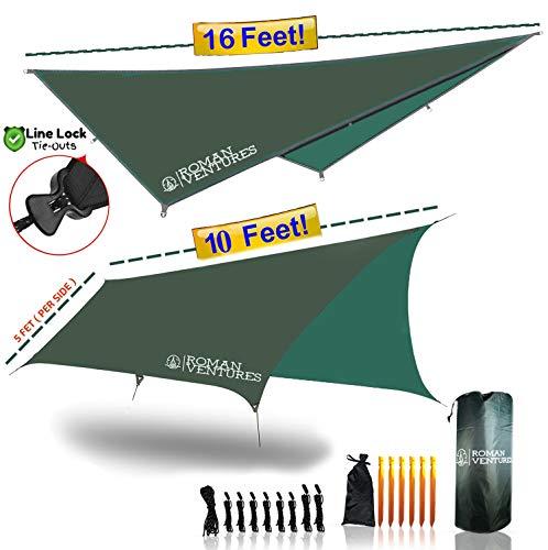 Roman Ventures Hammock Rain Fly Tent Tarp Waterproof